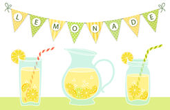 Cute vintage card Fresh Lemonade. For your decoration Stock Photo
