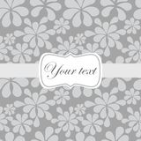 Cute vintage card invitation. Cute vintage abstract floral card invitation Royalty Free Stock Photo