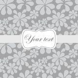 Cute vintage card invitation. Cute vintage abstract floral card invitation Royalty Free Illustration