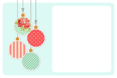 Cute vintage Christmas card in shabby chic style Royalty Free Stock Photography