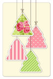 Cute vintage Christmas card in shabby chic style. For your decoration Stock Image