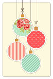 Cute vintage Christmas card in shabby chic style Stock Images