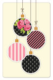 Cute vintage Christmas card in shabby chic style Royalty Free Stock Image