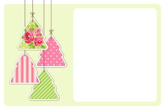 Cute vintage Christmas card in shabby chic style Royalty Free Stock Photo