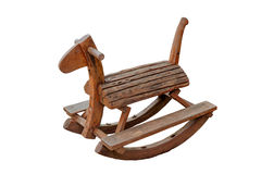 Cute vintage classic rocking horse chair children could enjoy the riding. Stock Image