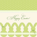 Cute vintage Easter card in shabby chic style with bunny Stock Photos