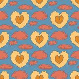 Cute Vintage Heart Pattern Stock Images