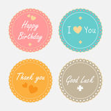 Cute vintage labels set. Vector eps10 Stock Images