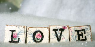 Cute vintage love blocks Royalty Free Stock Photo