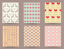 Cute vintage patterns for postcards Royalty Free Stock Image