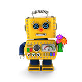 Cute vintage robot sending a get well wish Royalty Free Stock Images