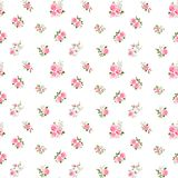 Cute vintage rose pattern. Vector illustration Royalty Free Stock Photography