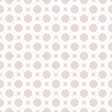 Cute vintage seamless pattern with big and small circles, dots. Cute vintage seamless pattern in trendy pastel colors, pale pink and white. Minimal abstract Stock Photos