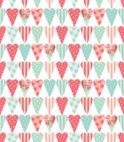 Cute vintage seamless pattern with heart shapes in shabby chic style. Ideal for Valentines Day, wedding, birthday, bridal shower, baby shower, retro party Royalty Free Stock Photography