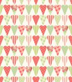 Cute vintage seamless pattern with heart shapes in shabby chic style. Ideal for Valentines Day, wedding, birthday, bridal shower, baby shower, retro party Royalty Free Stock Photo