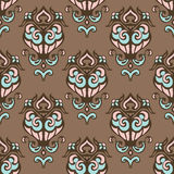 Cute vintage seamless vector pattern Royalty Free Stock Image