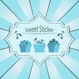 Cute vintage vector label Royalty Free Stock Photography