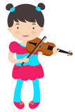 Cute violinist Royalty Free Stock Photos