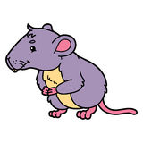 Cute vole. Vector illustration of cute cartoon vole character for children and scrap book vector illustration
