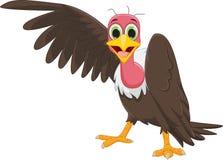 Cute vulture cartoon waving Royalty Free Stock Photos