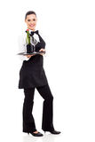 Waitress holding wine Stock Photography