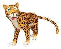 Cute walking  Leopard cartoon character Stock Photography