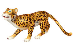 Cute walking  Leopard cartoon character Royalty Free Stock Images