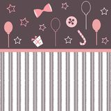 Cute Wallpaper in girlish style Royalty Free Stock Photos