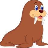 Cute walrus cartoon Royalty Free Stock Images
