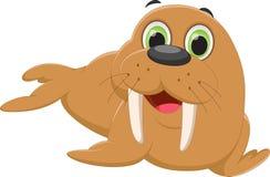 Cute walrus cartoon Royalty Free Stock Photography
