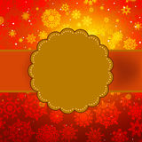 Cute warm color christmas card. EPS 8 Royalty Free Stock Photography