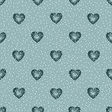 Cute watercolor background Red hearts Stock Photo