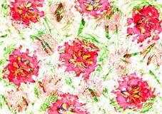 Cute watercolor floral design Stock Photos