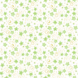 Cute watercolor flowers seamless pattern. Royalty Free Stock Photography
