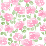 Cute watercolor flowers seamless vector pattern. Royalty Free Stock Image