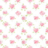 Cute watercolor flowers seamless vector pattern Royalty Free Stock Images