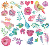 Cute watercolor magic unicorn Royalty Free Stock Images