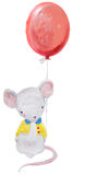 Cute watercolor mouse Royalty Free Stock Photography