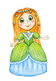 Cute watercolor princess Stock Images