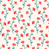 Cute watercolor red poppies Stock Photography