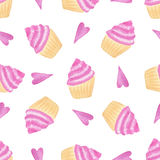 Cute watercolor seamless pattern. Painted girly texture. Textile or wrapping design vector illustration