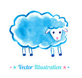 Cute watercolor sheep Royalty Free Stock Photography
