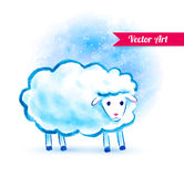Cute watercolor sheep Royalty Free Stock Photos