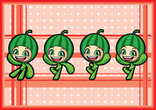 Cute watermelon boy Royalty Free Stock Images