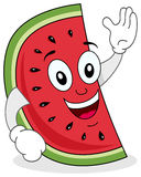 Cute Watermelon Character Smiling Royalty Free Stock Image