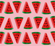 Cute Watermelon slice pattern Stock Images