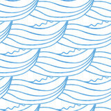 Cute waves hand drawn seamless pattern. Can be used for wallpaper, pattern fills, web page background Royalty Free Stock Photos