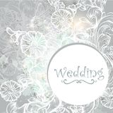 Cute wedding background in blue color Stock Images
