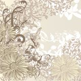 Cute wedding background in floral vintage style for design Royalty Free Stock Images