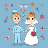 Cute wedding card Royalty Free Stock Photography